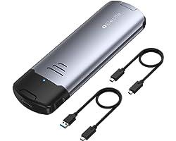 M.2 NVME NGFF SSD Enclosure Tool-Free,USB C 3.1 Gen 2 10 Gbps M.2 SATA PCIe Enclosure Adapter Support M-Key B+M-Key, External
