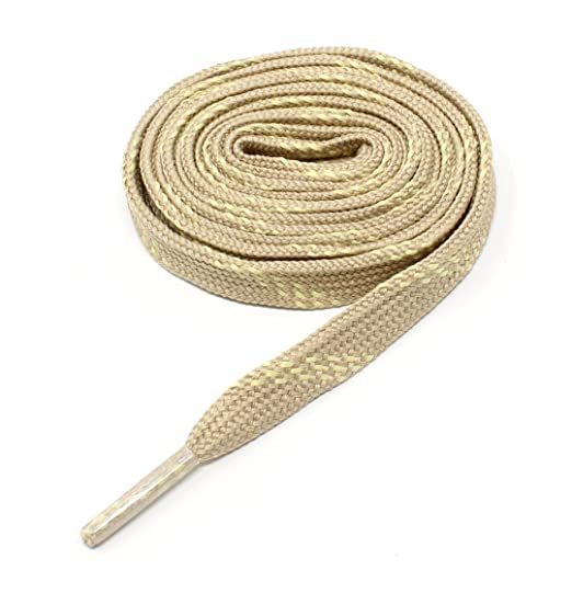 622289ae0c527 Flat Shoelaces 3/8 Wide With Kevlar Reinforcement Weave - Heavy Duty  Athletic Hiking and Work Boot Laces