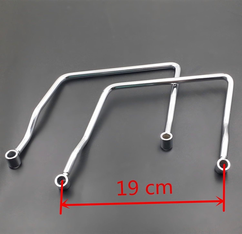 14 CM Saddle bag Support Bar Mount Bracket For Honda VT750DC Yamaha Road Star 14cm