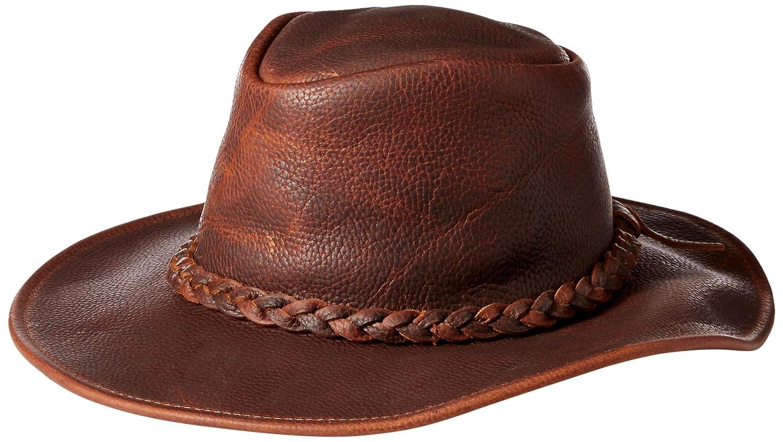 4dcec0a99ac Henschel Hats - Walker U-Shape-It Raging Bull Leather Western Cowboy Hat  XXLarge