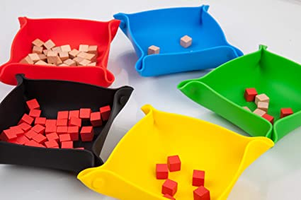 Board game bits and pieces storage trays