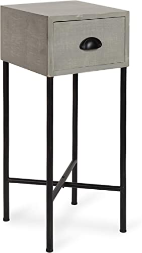 Kate and Laurel Decklyn Wood Side Accent Table