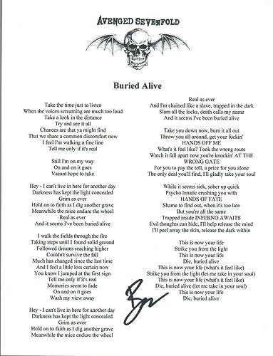 Brooks Wackerman Signed Autograph Avenged Sevenfold BURIED