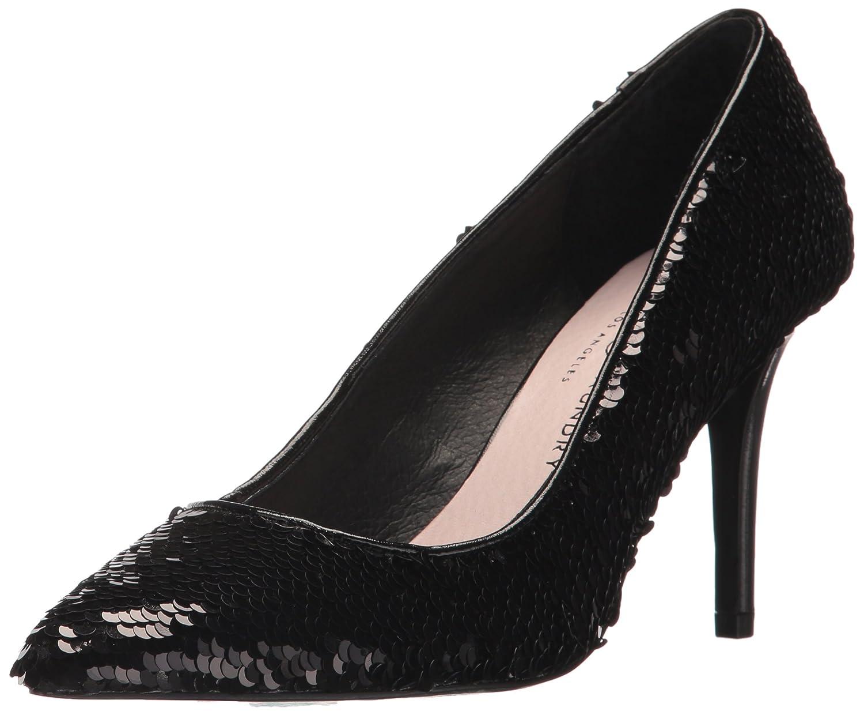 Women's Ruthy Black Sequin High-Heel Leather Dress Pumps - DeluxeAdultCostumes.com