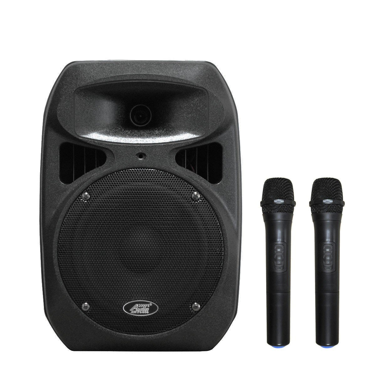 Audio 2000s AWP6408H 50W 8'' Dual Channel Wireless Microphone Portable PA System with 2 Handheld