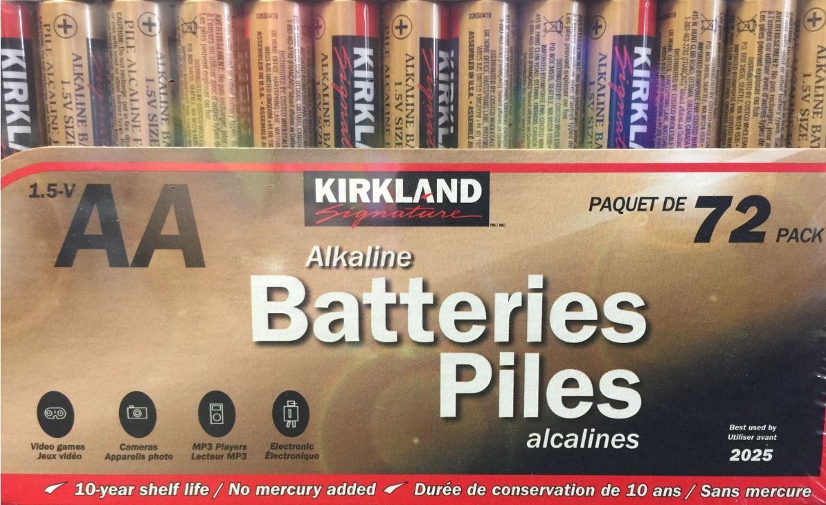 Amazon Com Kikland Signature Alkaline Batteries 48pk 7