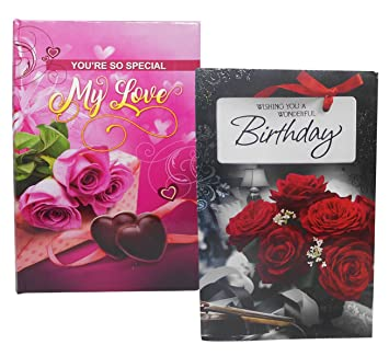 Saugat Traders Love Gift For Girlfriend Birthday Card With Greeting