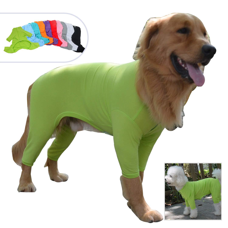 Lovelonglong Four Feet Dog Lightweight Pajamas, Pure Cotton Dog Jumpsuits 4 Legs Dog Onesies T-Shirt Stylish PJS Puppy Costume for Large Medium Small Dogs Green XXXXL by Lovelonglong