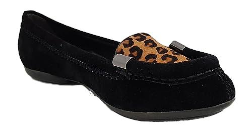 Geox Mocasines de Piel Para Mujer Negro Negro 35, Color Negro, Talla 35: Amazon.es: Zapatos y complementos
