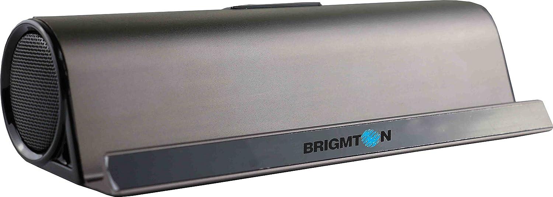 Brigmton BAMP-702 - Altavoz portátil Bluetooth (reproducción de mp3, funcionamiento a batería)
