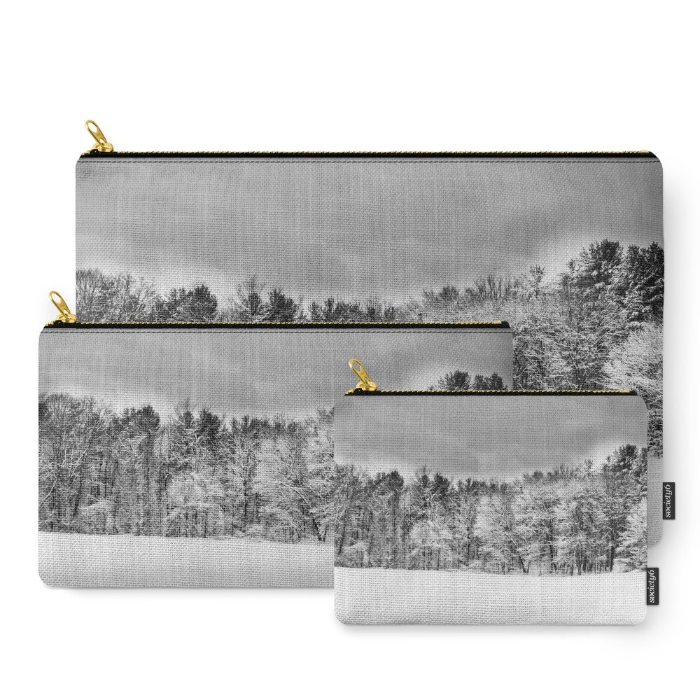 Society6 Frosting - A Snow Coat Carry-All Pouch Set of 3
