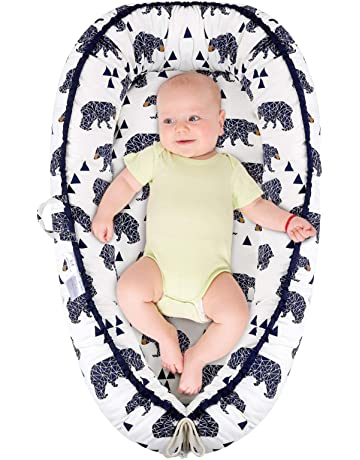 Camidy Baby Bassinet Newborn Baby Lounger Portable Crib Super Soft and Breathable Infant Co-Sleeping Bed Lounger for Baby Boy Girl 0-24Months