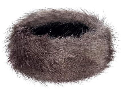 82320c9abf3 Futrzane Winter Faux Fur Headband for Women and Girls (Graphite)   Amazon.ca  Luggage   Bags