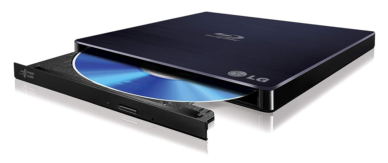 LG Electronics 6X Blu Ray Writer 8X DVD Writer +/- RW USB 2.0 Super Multi Ultra Slim Portable with M-DISC Support (Black) WP50NB40
