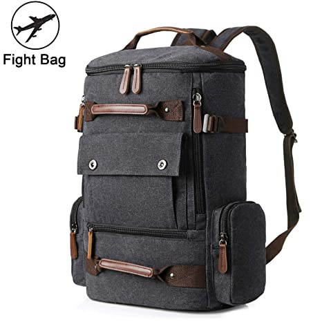 32f4d6614475 Yousu Canvas Backpack Fashion Travel Backpack Rucksack Casual Vintage  Daypack