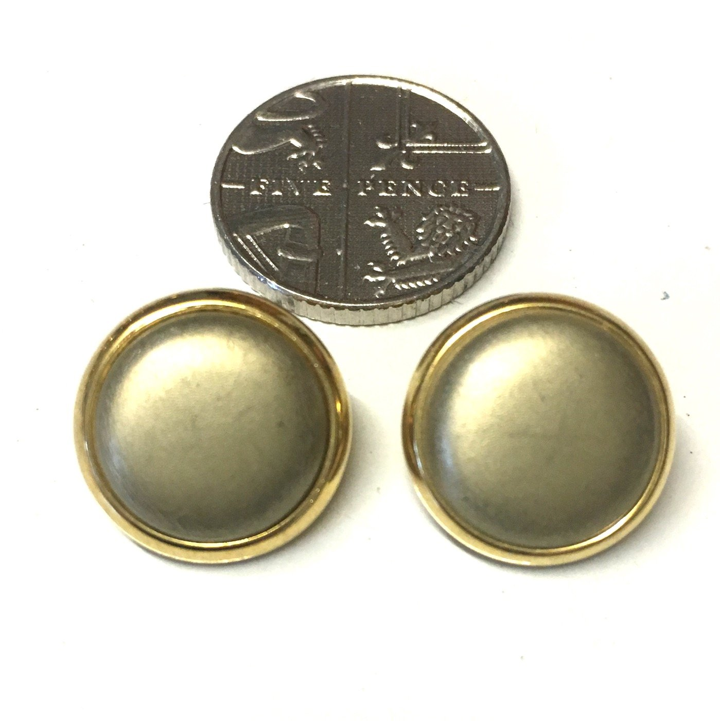 10/x mate efecto Metal Dorado Blazer botones decorativos 14/mm redonda