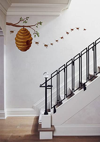 Amazon ZigRocket Honey Bee On Tree Story DIY Wall Sticker Removal Vinyl Home Decor Decal Murals 90 X 75 Cm Kitchen