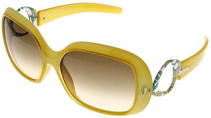 5fe35600421 Emilio Pucci Sunglasses Womens EP619S 734 Sunflower  Amazon.ca ...