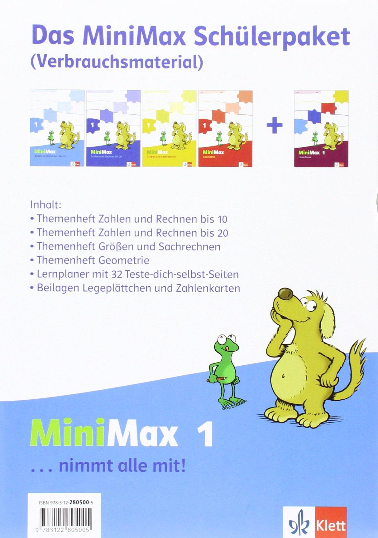 MiniMax / Schülerpaket 1. Schuljahr: (enthält 3 Arbeitshefte, 1 Lernplaner und Wendeplättchen)