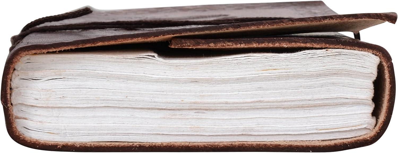 Gusti Leder nature Dehlia Blocco Appunti A6 DIN formati Blocco da disegno Pelle Bovina Cuoio Album Fotografico Universit/à Ufficio Fantasia P52