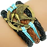 Emotionlin Vintage Fashion Adjustable Eye Hand Made Leather Wristband Bracelet