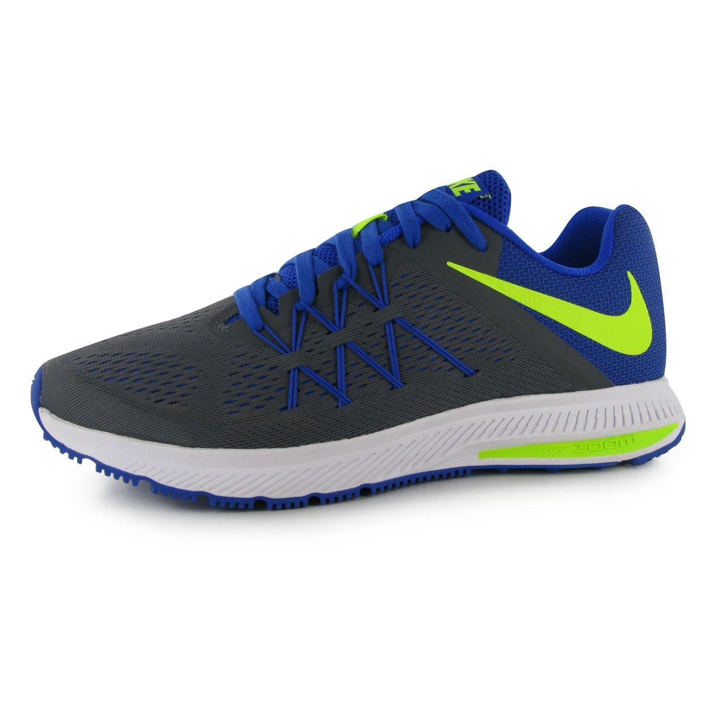 Nike Zoom Winflo 3 Zapatillas de Running para Hombre Gris/Volt Fitness Sports Trainers Zapatillas Deportivas, Grey/Volt: Amazon.es: Deportes y aire libre