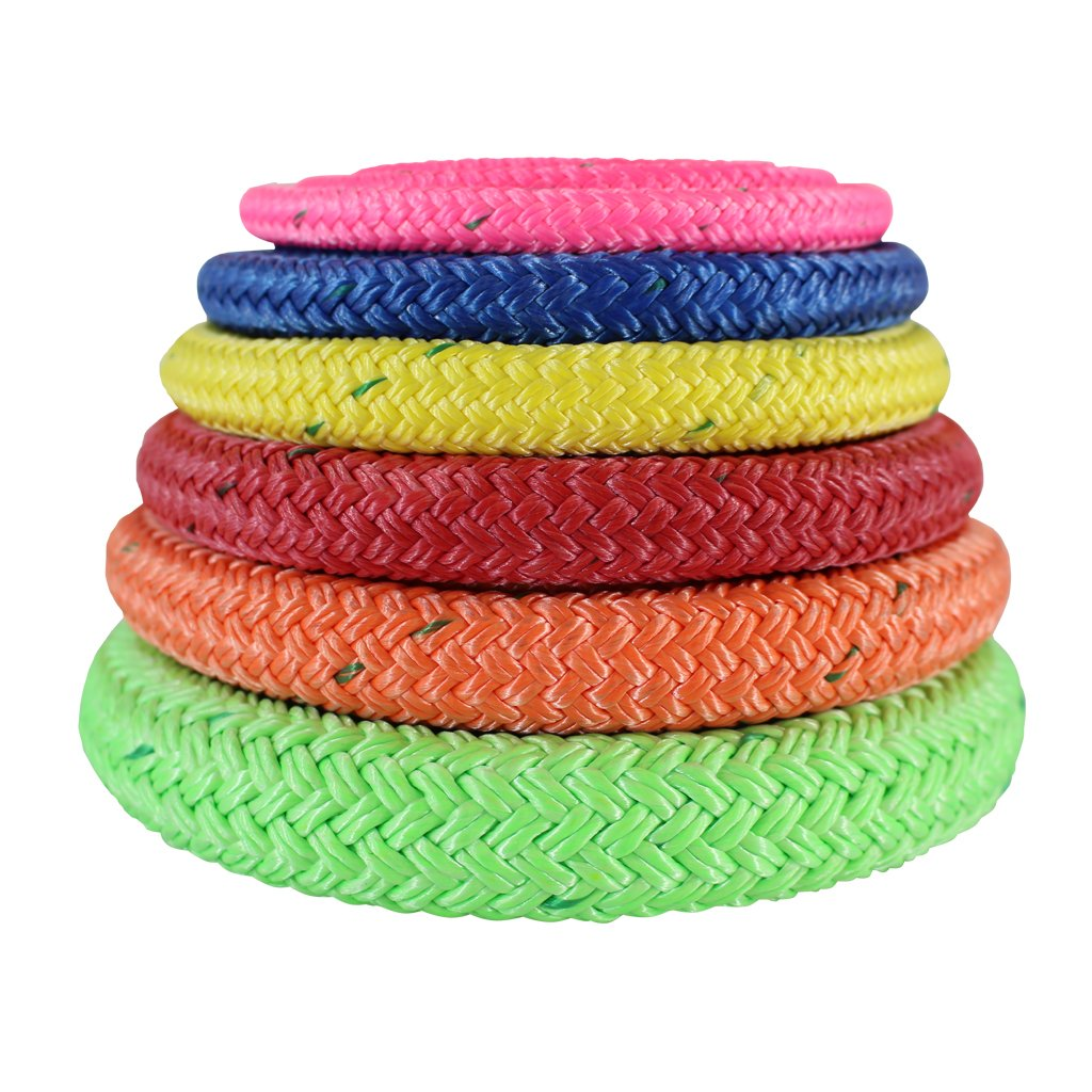 SGT KNOTS Arborist Bull Rope (1/2 inch) - ALL GEAR Tree Rigging Line - Double Braided Core with Husky Urethane Coating - for Gardening, Landscaping, Home Improvement (150 ft - Coil - Blue)