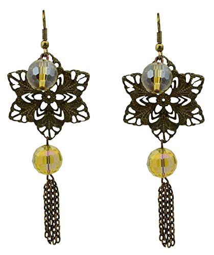 Brass Light weight Fashionable Party Wear dangle Drop Earrings for womens girls Womens Earrings