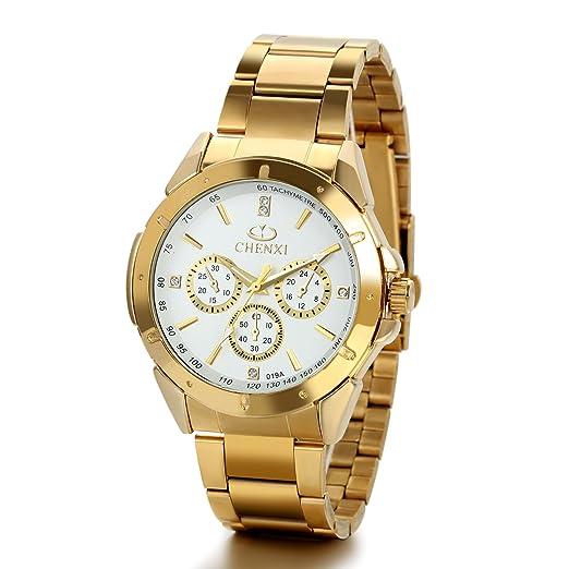 d6d0cffae09b JewelryWe Reloj Dorado de Esfera Blanca