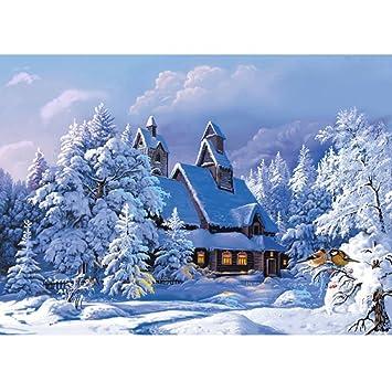 Amazonde Display08 Weihnachten Haus Im Schnee 5d
