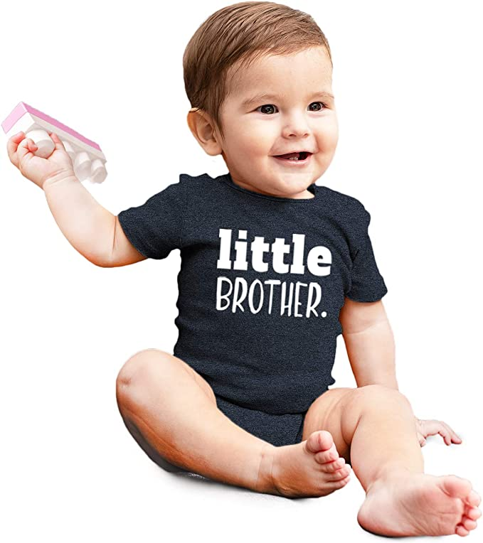 personalized little brother setbaby boy coming home outfitpersonalized newborn outfittake home setorganic cottonlittle brother set