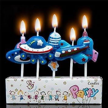 Party Candles Fête Bougies Gâteau D Anniversaire Bougies Spaceships