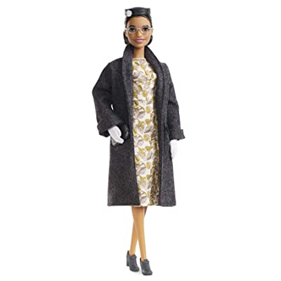 ​Barbie Inspiring Women Series Rosa Parks Collectible Barbie Doll, Wearing Fashion and Accessories, with Doll Stand and Certificate of Authenticity: Toys & Games