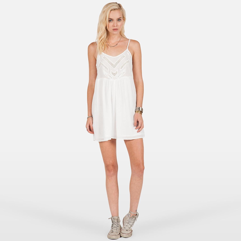 Volcom Womens Bangalow Romper 1 Piece Bodysuit Shorts Tank Top White New
