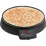 Clatronic CM 3372 - Crepera máquina de hacer Crepes, tortitas, tortillas, antiadherente, 29 cm