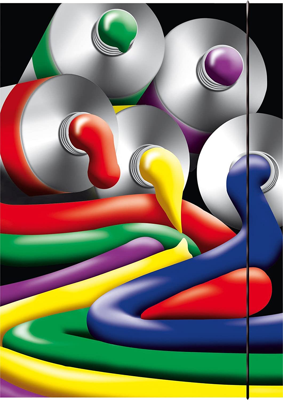Rnk-Vordruckverlag - Cartella portadisegni A2, motivo: tubetti di colore, 44 x 31 cm Rnk - Vordruckverlag 4002871459808