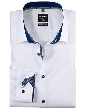 online store 40798 6a7c8 OLYMP No. Six Super Slim Hemd Extra Langer Arm Stretch Weiß