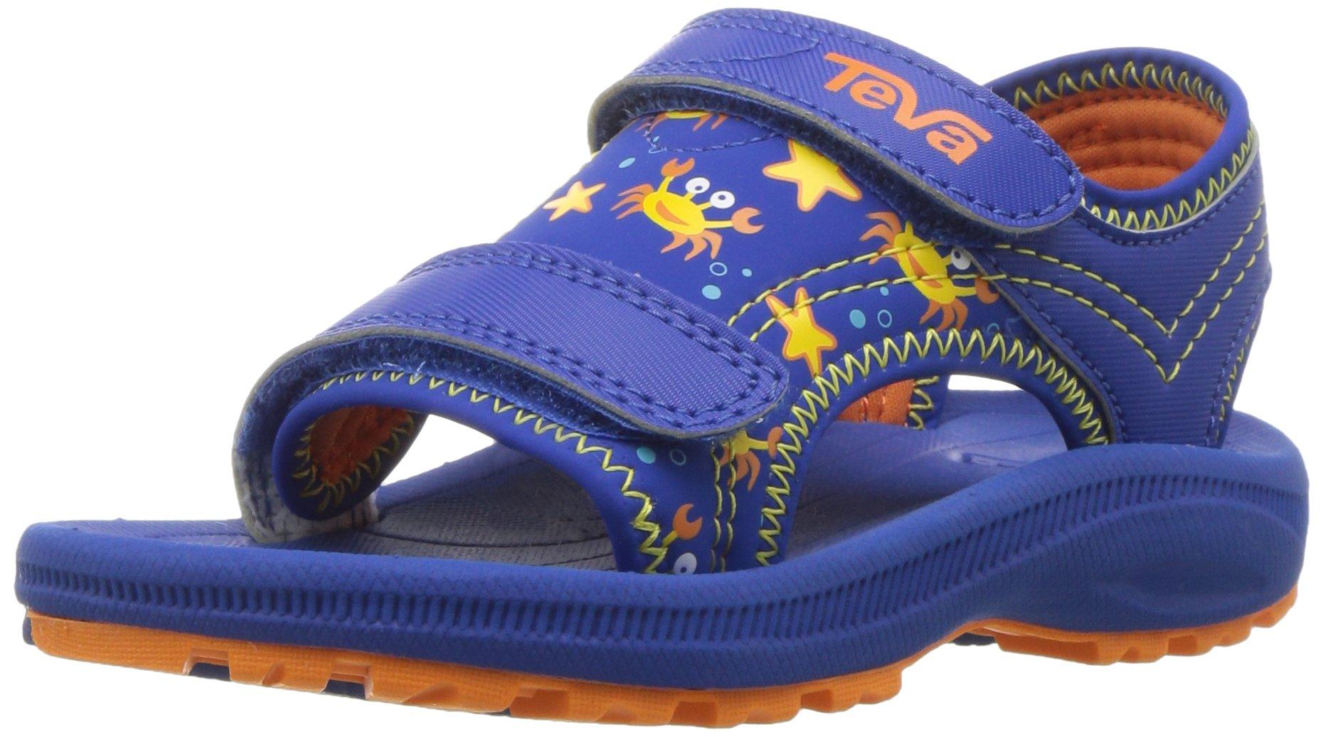 Teva Boys' Psyclone 4 Sandal Crazy Crabs Blue/Orange 4 M US Toddler