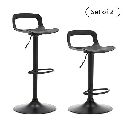 Amazon Com Thksbought Set Of 2 Modern Bar Stools Plastic Adjustable