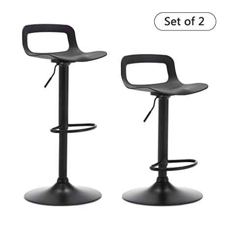 Fantastic Thksbought Set Of 2 Modern Bar Stools Plastic Adjustable Counter Height Swivel Stool Matte Back Onthecornerstone Fun Painted Chair Ideas Images Onthecornerstoneorg