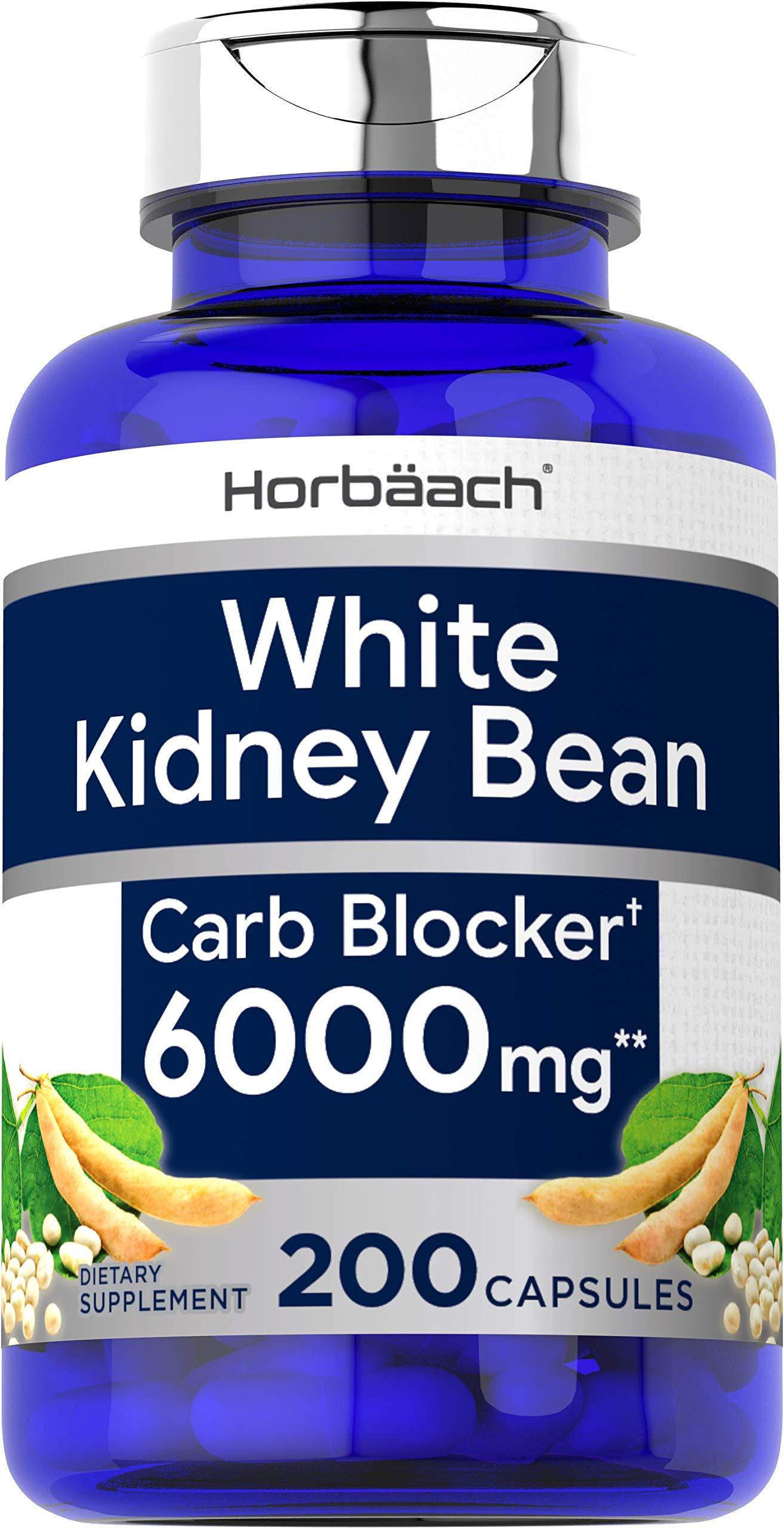 White Kidney Bean | 6000 mg 200 Capsules | by Horbaach