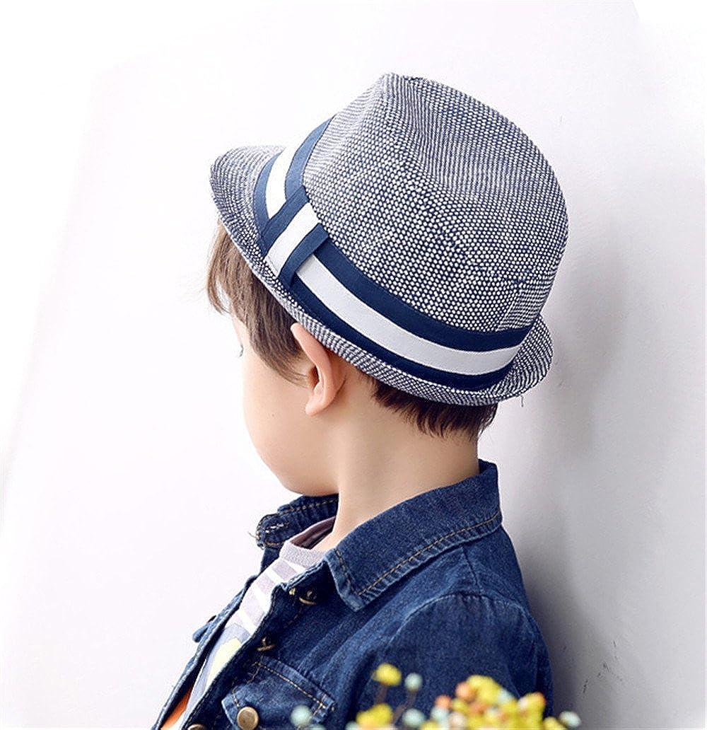 Cappelli di Paglia da Sole Cappello di Jazz Primavera Autunno Ragazzo  Bambini cappello panama  Amazon.it  Abbigliamento 27f82553f9f6