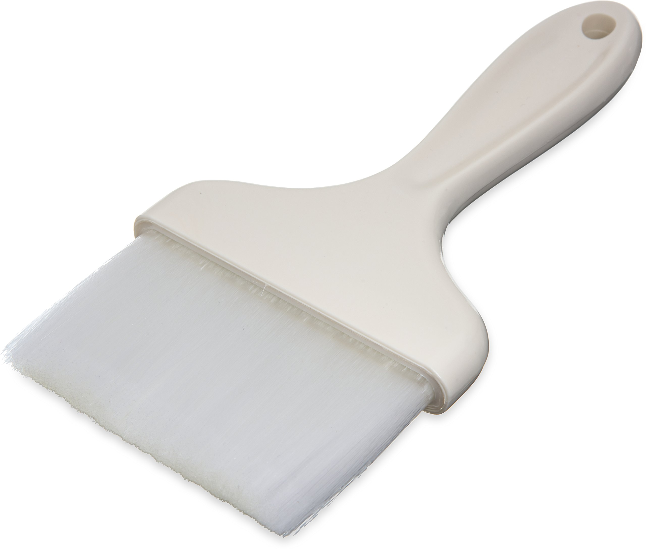 Carlisle 4039302 White 4'' Galaxy Pastry Brush with Plastic Handle (Case of 12) by Carlisle
