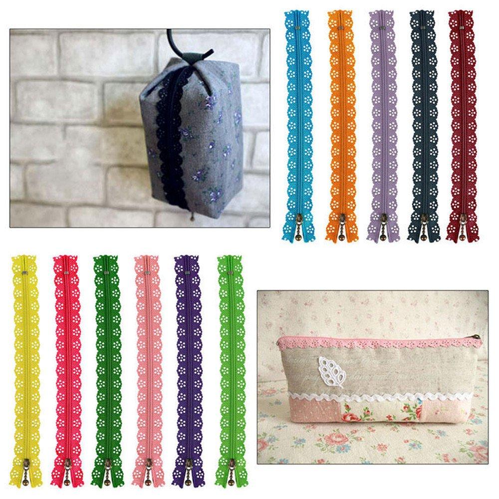 Healifty 20 unids Nylon Coil Cremalleras de Encaje DIY Tailor Sewer Craft Accesorios para DIY Costura Sastre Color Al Azar 35 cm 14 Pulgadas