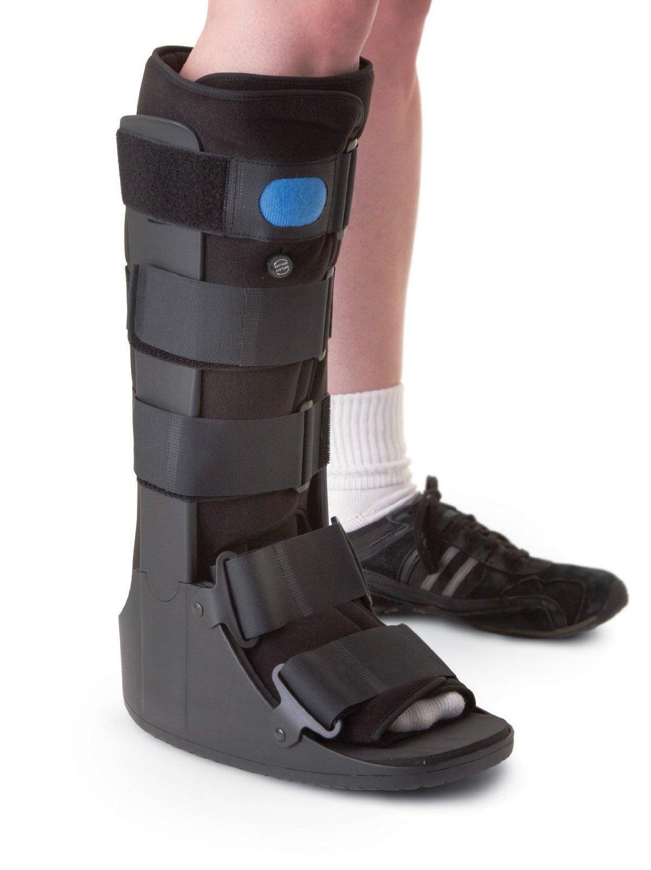 OTC Short Leg Adjustable Air Cast High Top Walker Boot, Black, Large/Tall by OTC