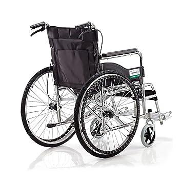 QIDI Silla De Ruedas Plegable Ligero Personas Mayores Personas Discapacitadas Empuje Manual Scooter: Amazon.es: Hogar