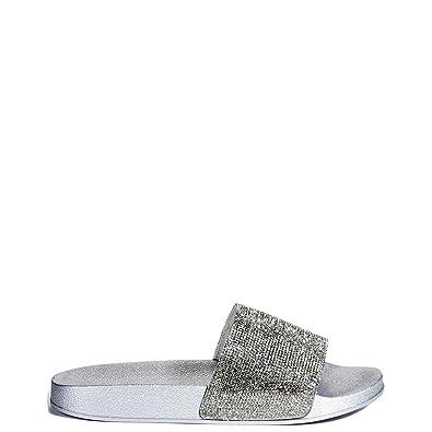 11bff2b16 Blitz-1 Rhinestone Slide Sandal (8 B(M) US