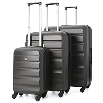 Aerolite Lightweight 4 Wheel ABS Hard Shell Luggage Suitcase ...