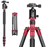 "Neewer Carbon Fiber 63""/160cm Tripod Monopod with 360 Degree Ball Head,1/4""Quick Shoe Plate,and Bubble Level Including…"