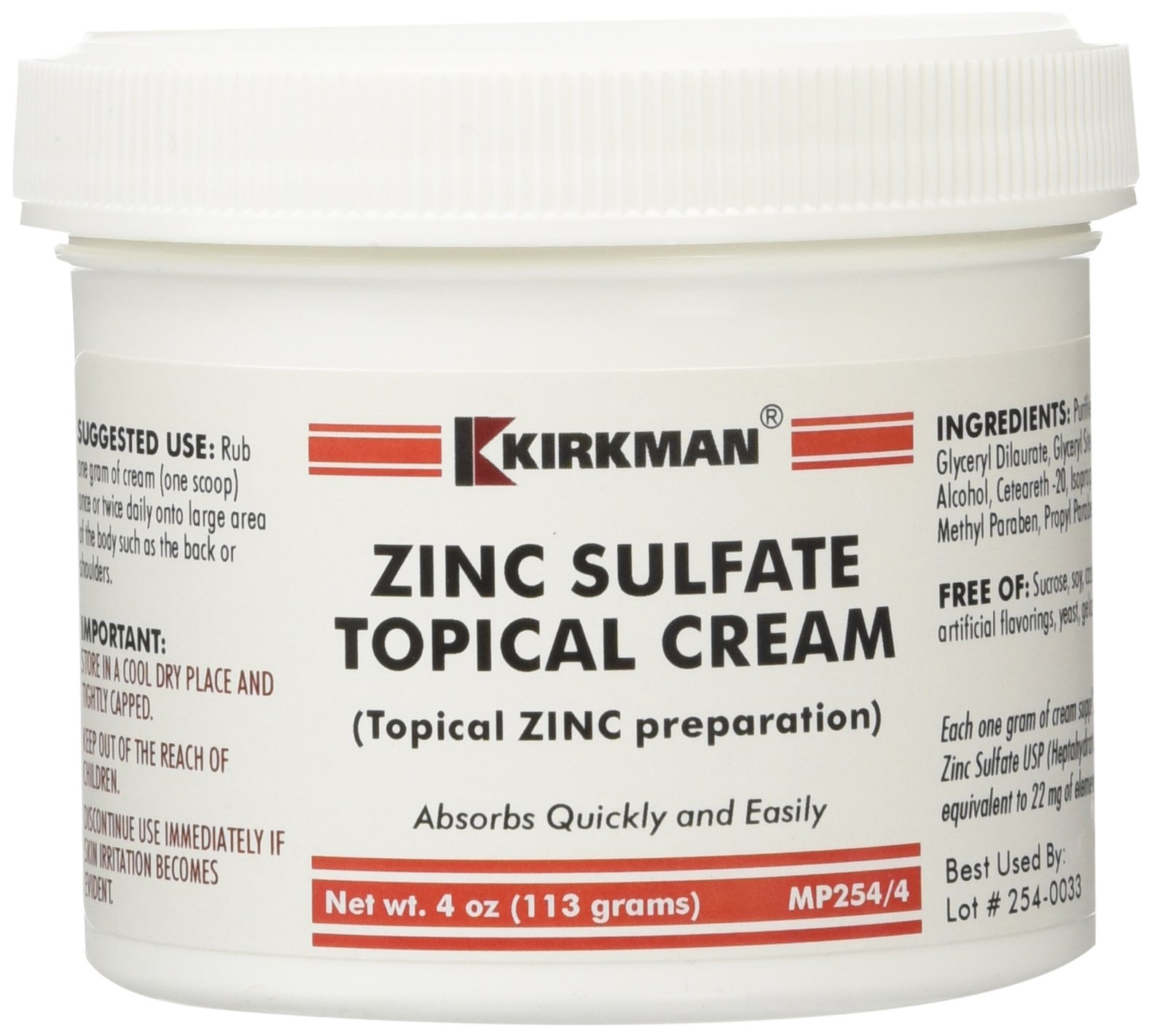 What is zinc ointment used for?